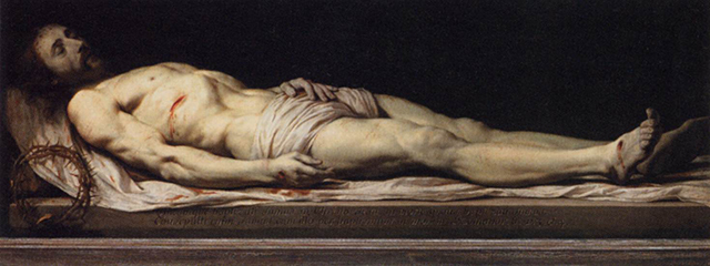 'The Dead Christ' by Philippe de Champaigne (<1654) | License - Public Domain