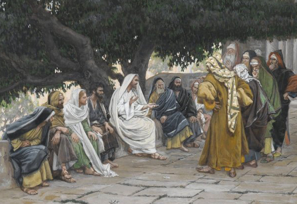 'The Pharisees and the Sadducees Come to Tempt Jesus' by James Tissot | License - Public Domain