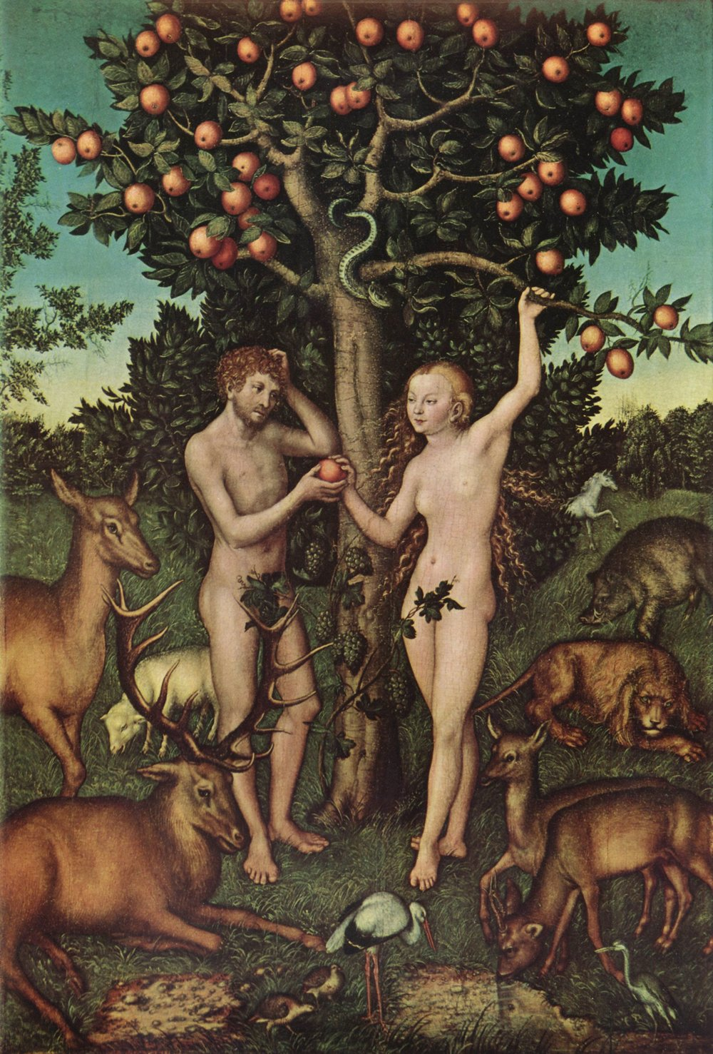 Lucas Cranach the Elder, Adam and Eve, 1526