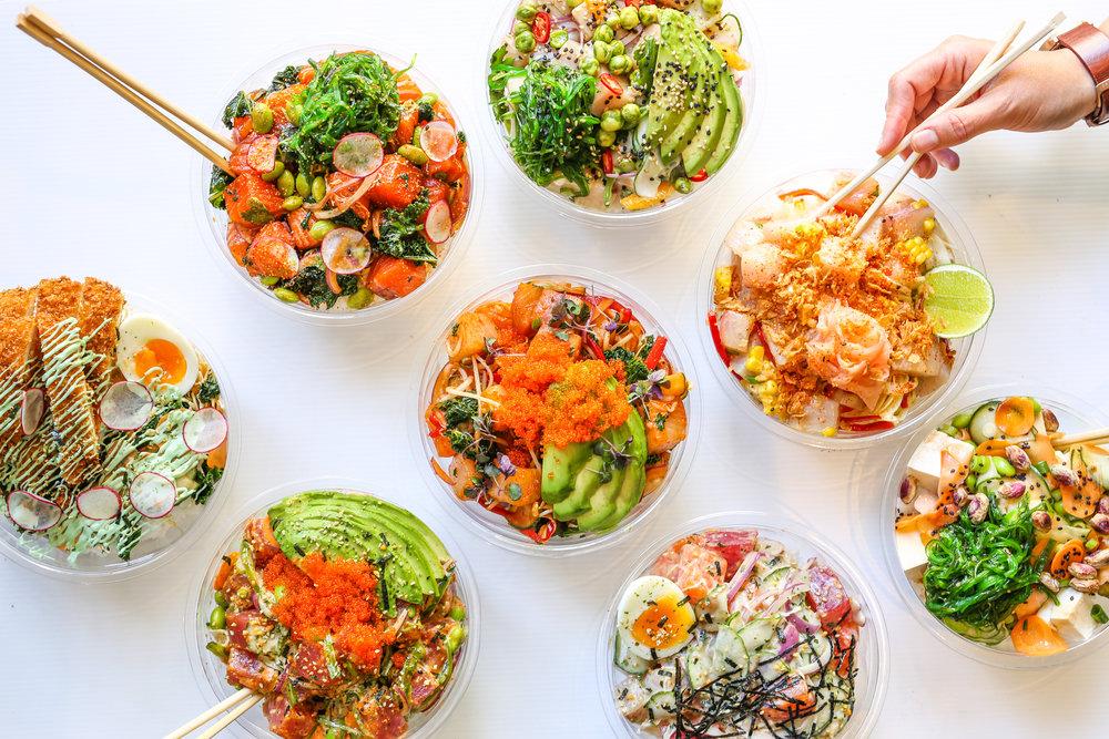Suki Poke bowl spread