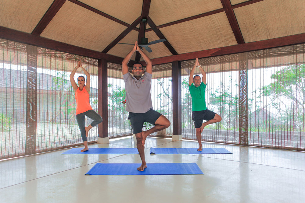 瑜伽和冥想亭