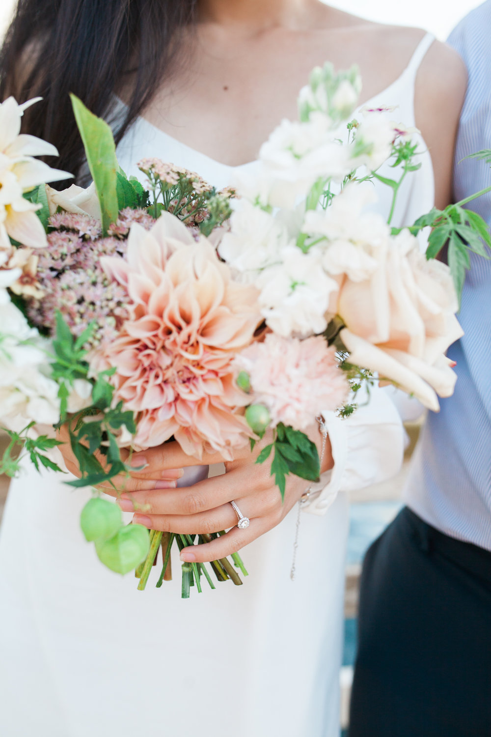 Engagement-bouquet-held-by-girl