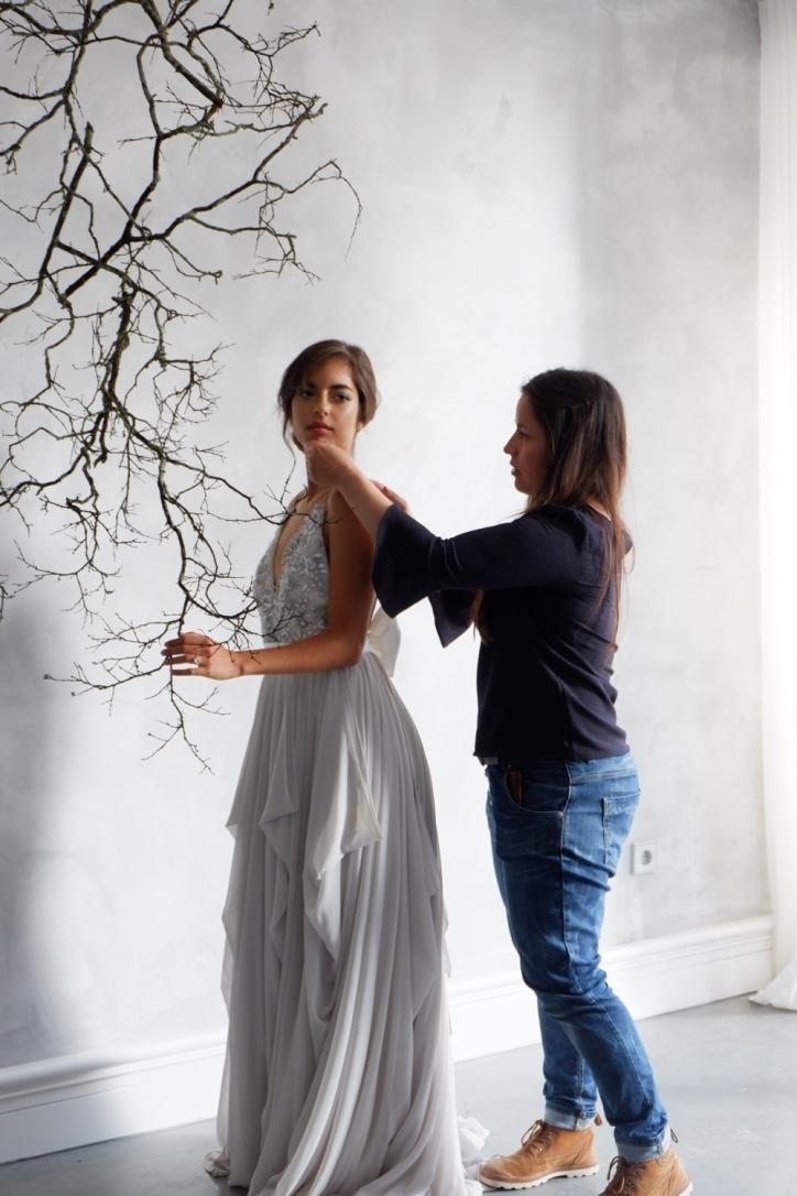 Peace-of-mind-studio-shoot-fixing-dress
