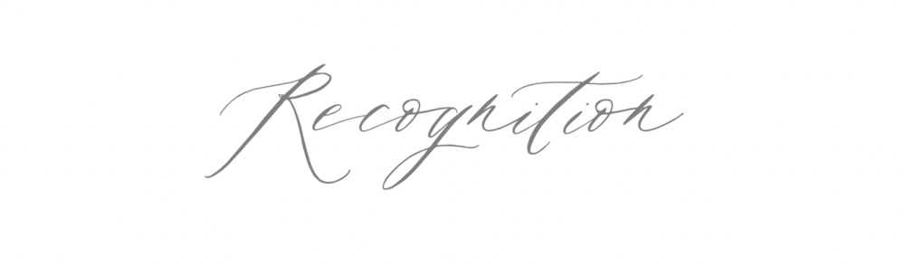 recognition-heading-in-calligraphy-font