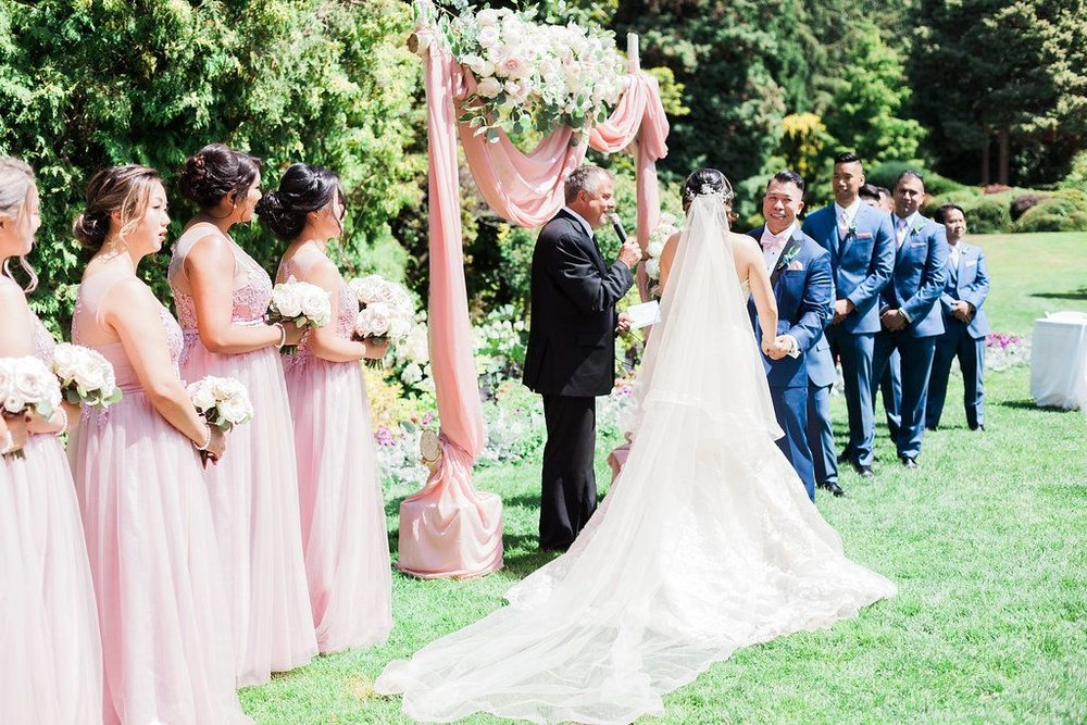 Cecil-green-park-wedding-floral-arch-side-shot