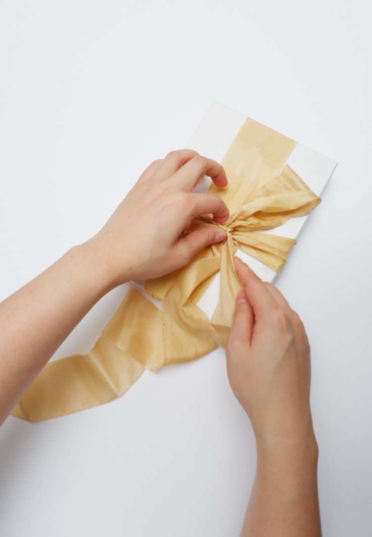 Gold-silk-ribbon-gift-wrap