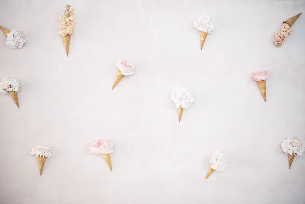 Floral-ice-cream-cone-backdrop-in-pink