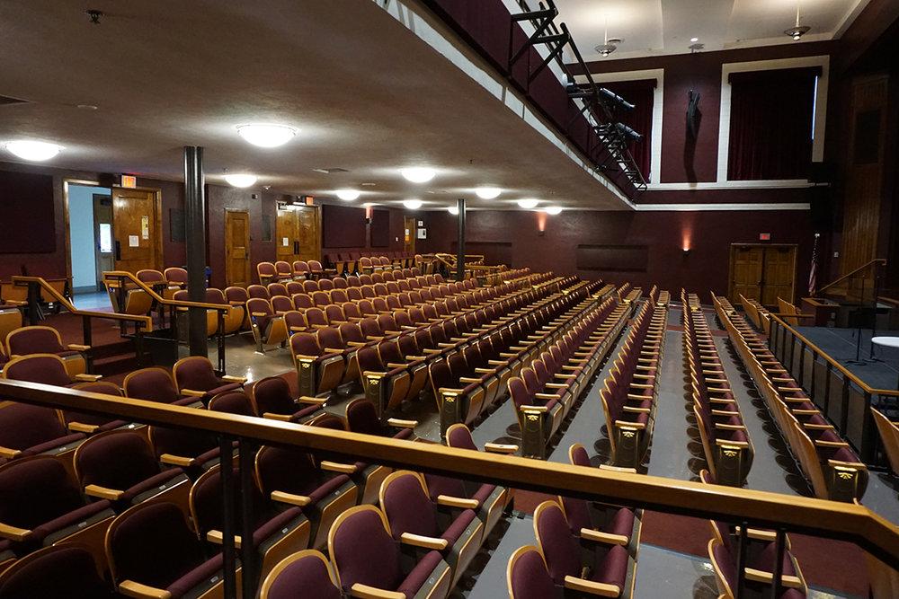 Main floor seating of Potter Auditorium.