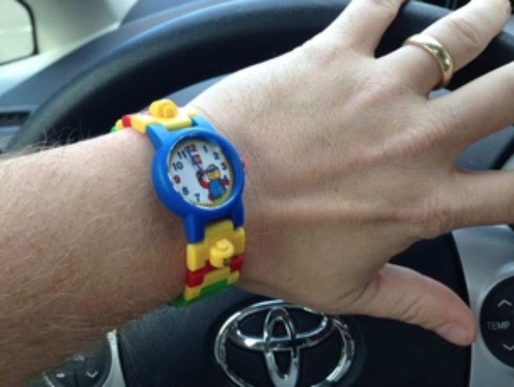 I wear a LEGO watch every day to remind myself to think like a kid.
