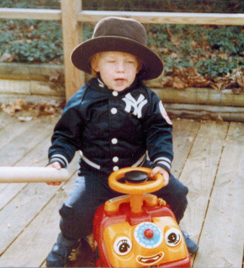 Here I am in 1984. I'm pretty sure I wasn't bored.