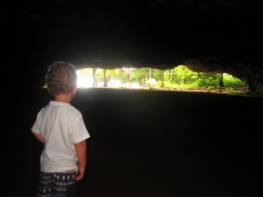Inside a lava tube!