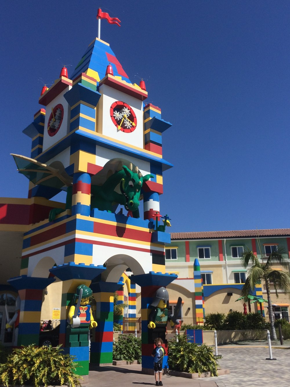 The impressive Legoland Hotel