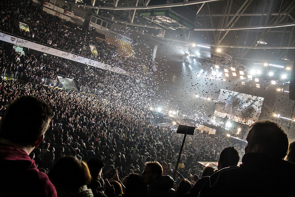 Tiziano Ferro's concert in Lugano: another Enjoy success.