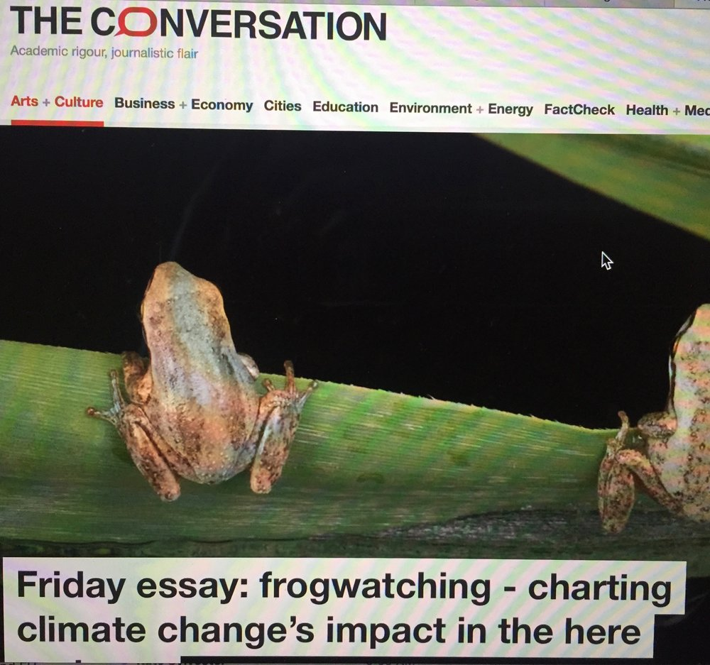 - Frogwatching: charting climate change's impact in the here and now