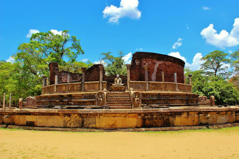 The Vatadage in the ancient city of Polonnaruwa