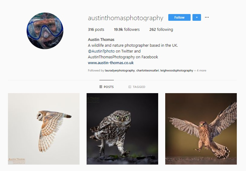 Click for  Austin Thomas's Instagram