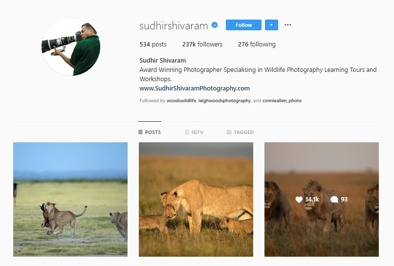 Click for  Sudhir Shivaram's Instagram