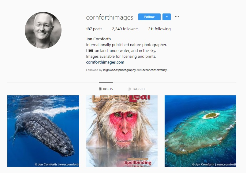 Click for  Jon Conforth's Instagram