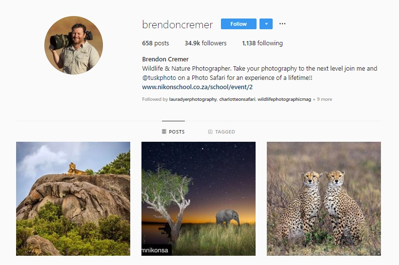 Click for  Brendon Cremer's Instagram