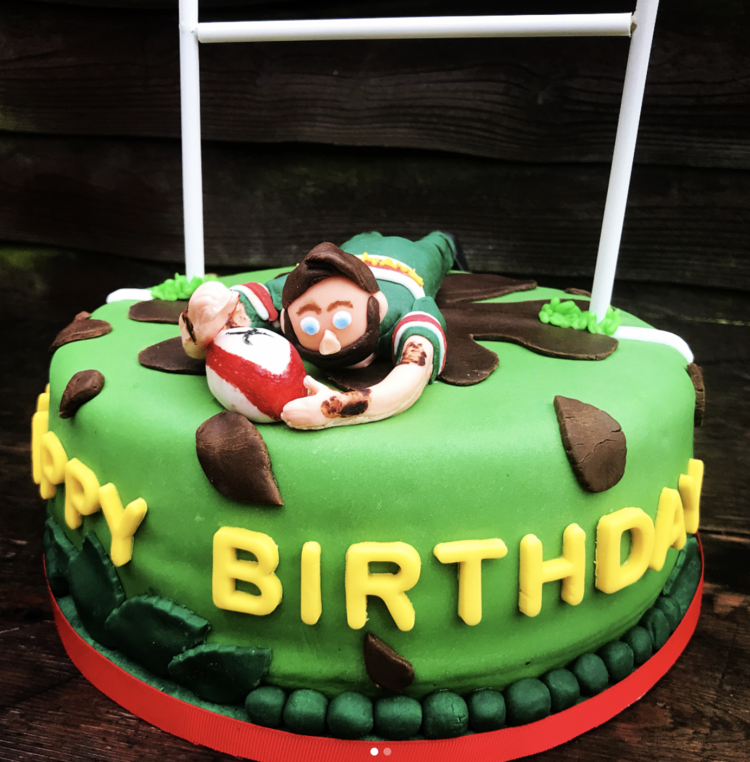 Rugby Player Birthday Cake Nylo Pantry