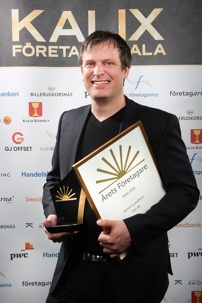 Anton Lundholm, Årets Företagare i Kalix 2016