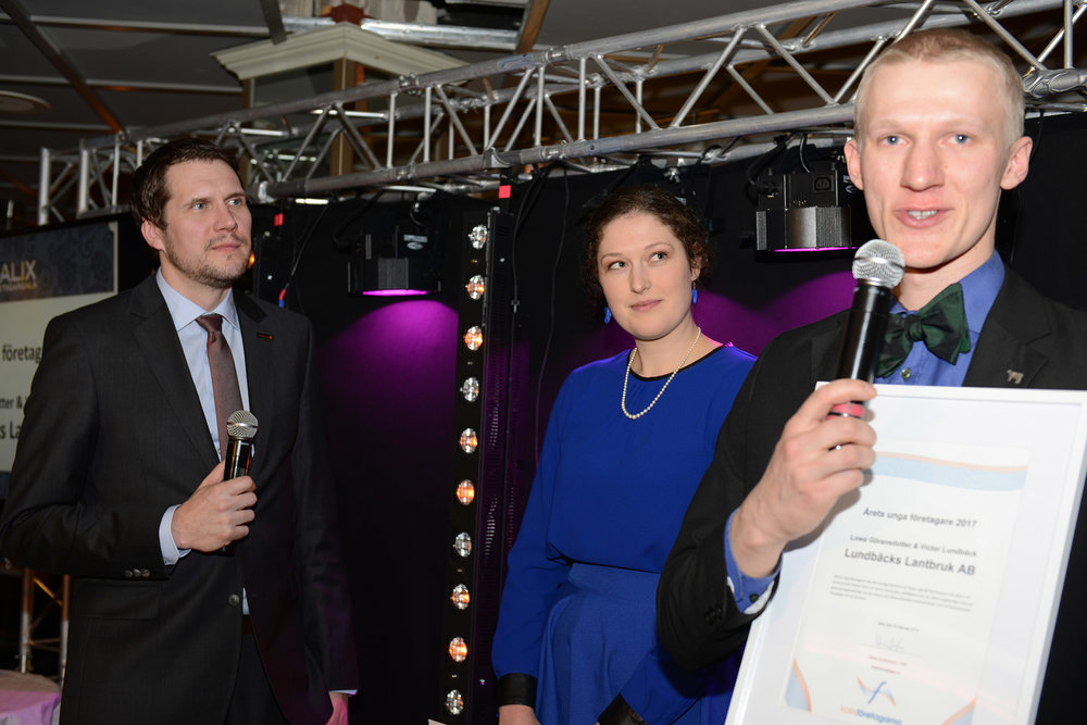 Årets unga företagare - Lowa Göransdotter & Victor Lundbäck, Lundbäcks Lantbruk AB