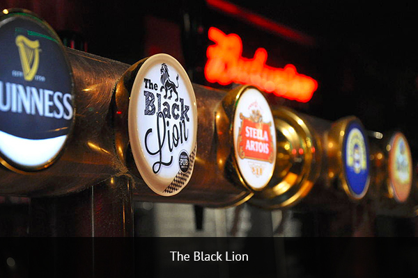 THE BLACK LION  |    +34 934 903 384   This is the oldest English pub in Barcelona. Staying true to its roots, the pub features most European football league and cup competitions.   Address:  Evarist Arnús 70