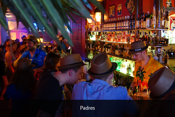 PADRES  |    +49 89 264263   Padres is located in the city center and offers fans a great football atmosphere. The place is always a packed house for Bundesliga matches, making it a fun place to have a few pints and enjoy the game.   Address:  Blumenstraße 43, 80331