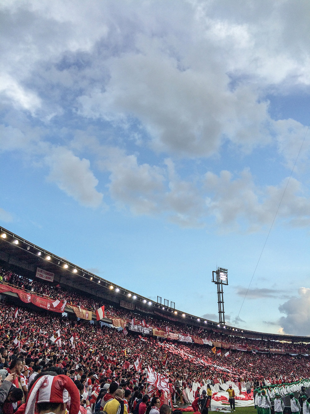 We arrived at the stadium 4 hours before the kickoff. As you can see, it was already packed.