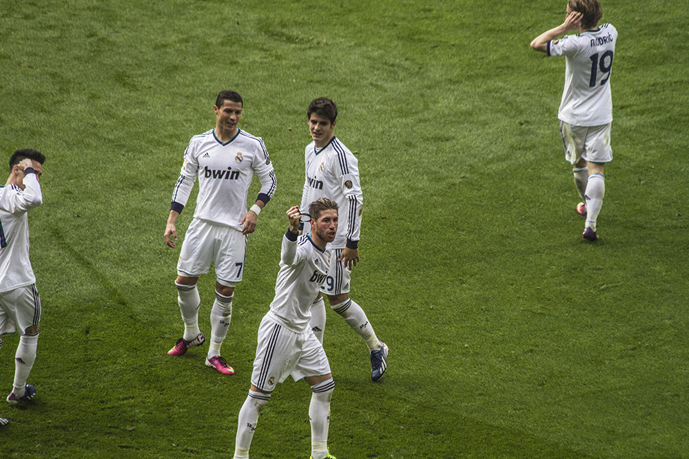 Sergio Ramos, once again being the hero of the day after scoring the winning goal.