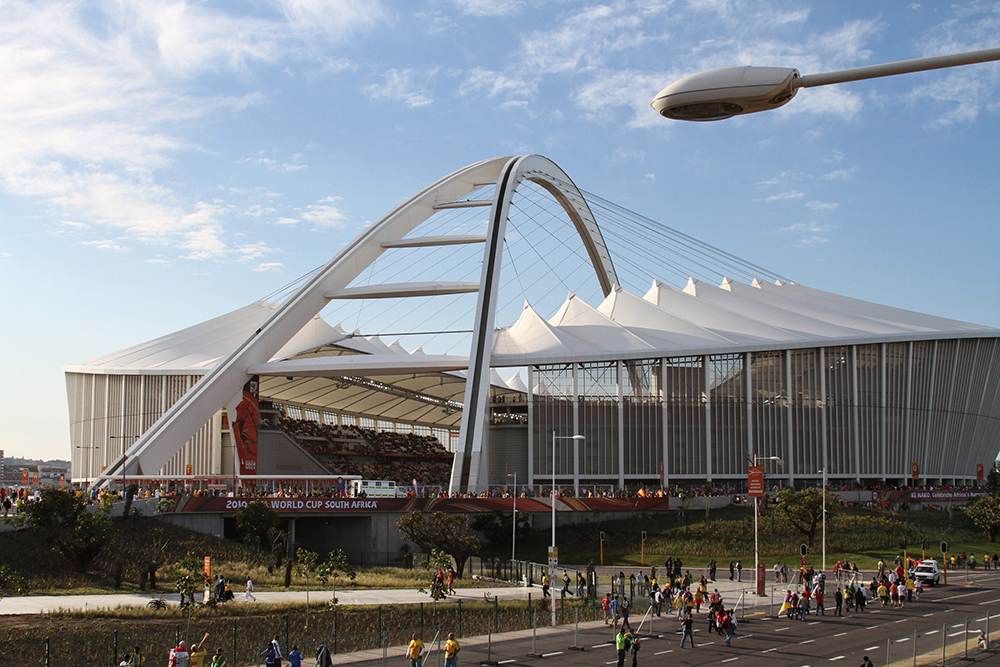 The beautiful Moses Mabhida Stadium in Durban