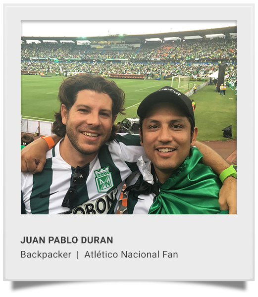 JUAN P. DURAN  Backpacker | Atletico Nacional Fan