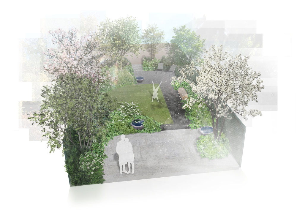 Finchley, private residential rear garden for Harris Murray-Wicks