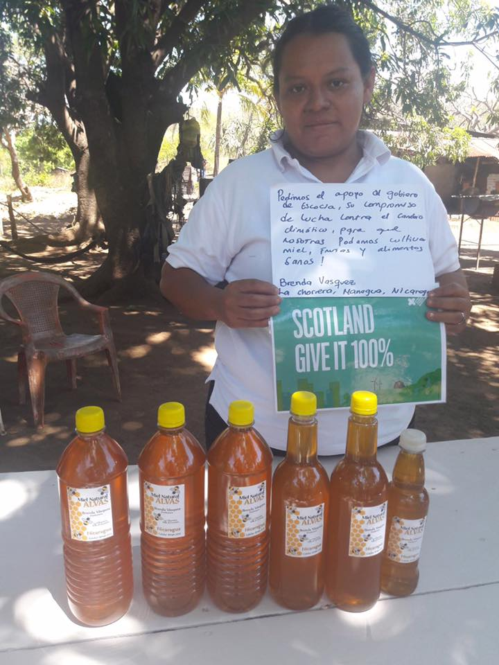 """We are asking for the Scottish Government's support and its commitment in the struggle against climate change so that we can cultivate honey, fruit and healthy crops and food.""          BRENDA VASQUEZ, NICARAGUA"