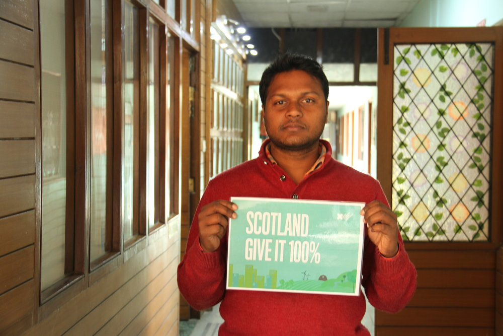 """small act can make a difference!""    Nutan Kumar, India"
