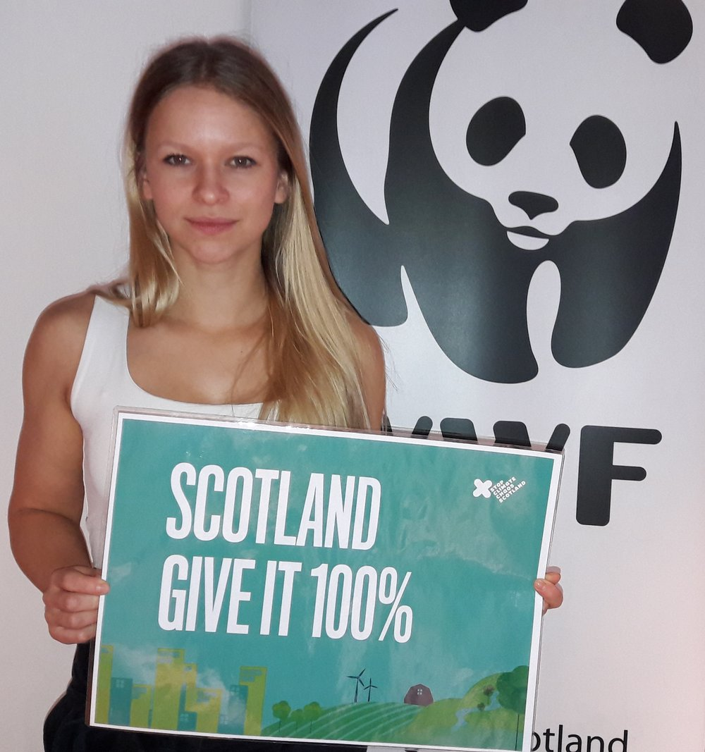 """The upcoming Climate Change Act in Scotland should be used to set a target for cutting your emissions by one hundred percent by 2050. The technology is there; it's just a question of being willing to invest in the future.""    Jannie Staffansson, Sweden      Photography by WWF"