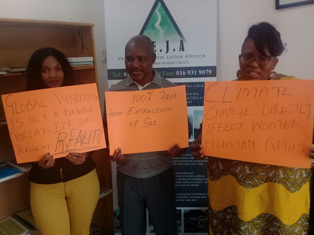 Activists at Vaal Environmental justice alliance, South Africa