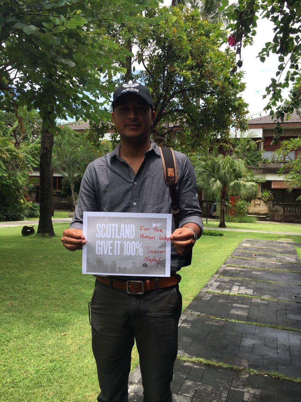 """""""For the human sake""""    Jeevan Kasula, Nepal"""