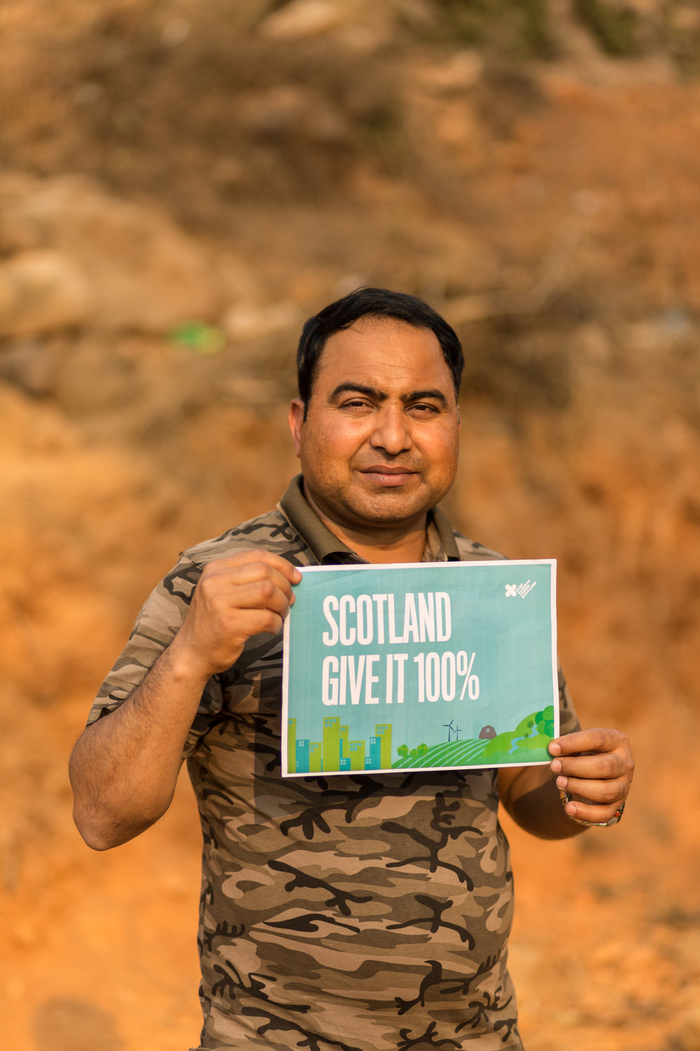 """""""TODAY NEPALESE COMMUNITIES ARE FACING THE VERY WORSE IMPACTS OF CLIMATE CHANGE, AMBITIOUS CLIMATE ACTION IN SCOTLAND WILL HELP ADDRESS THE CHALLENGES WE FACE NOW AND IN THE FUTURE""""    BINOD GHIMIRE, NEPAL     Photograpgy by Chris Hoskins, Tearfund"""