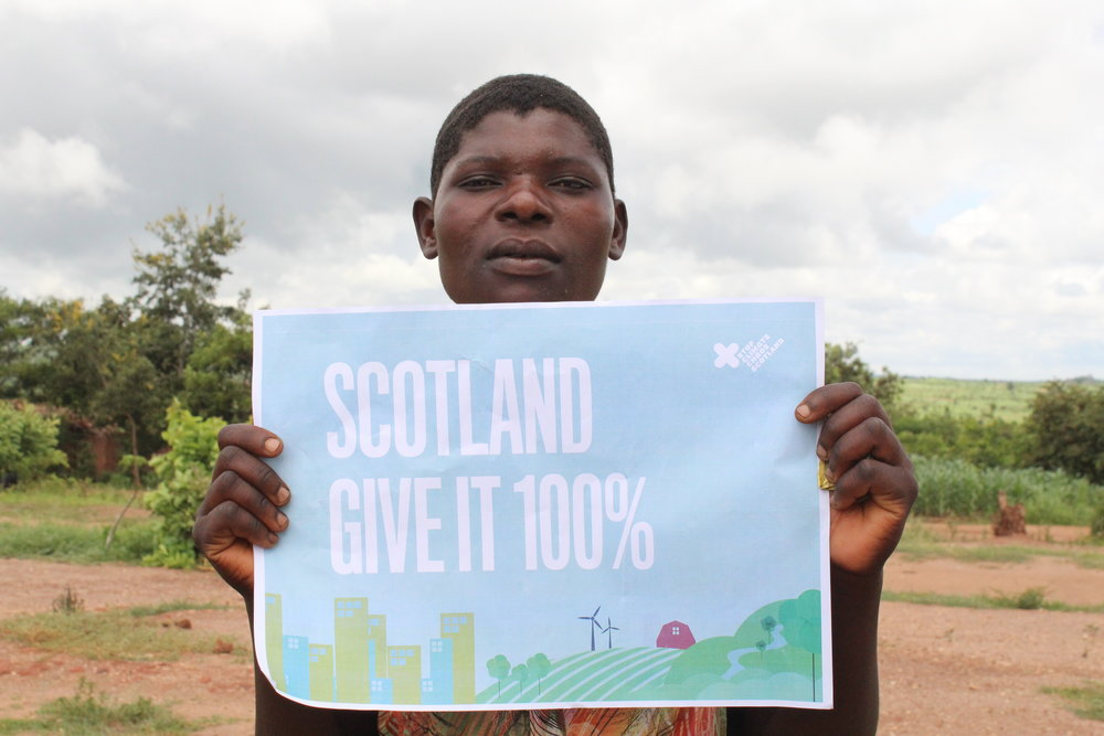"""""""Poor rains because of climate change hAve led to water scarcity in this area. It means now this whole community including three schools depend on one single borehole and it is now struggling to supply enough water because it is old"""" - Hendria Mabvuto, Malawi"""