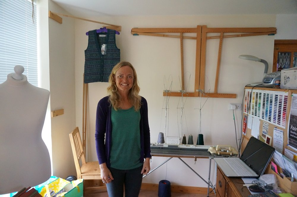 Holly Shaw in her workshop