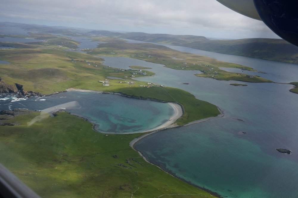 Flying over Minn Beach at the south end of Burra