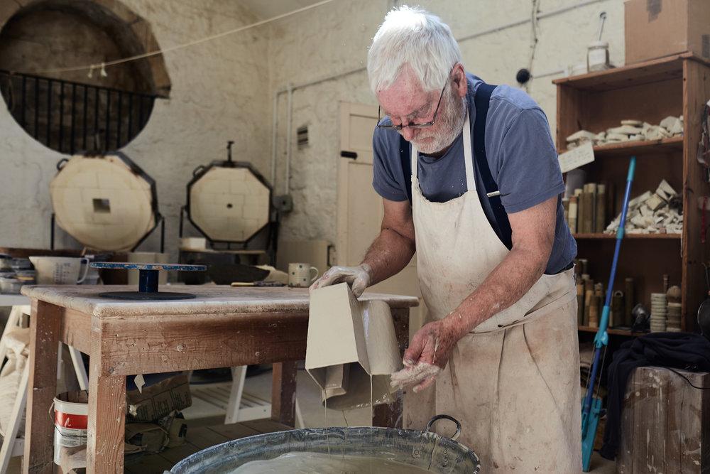 Paul Philp in his studio - photography Euan Denholm