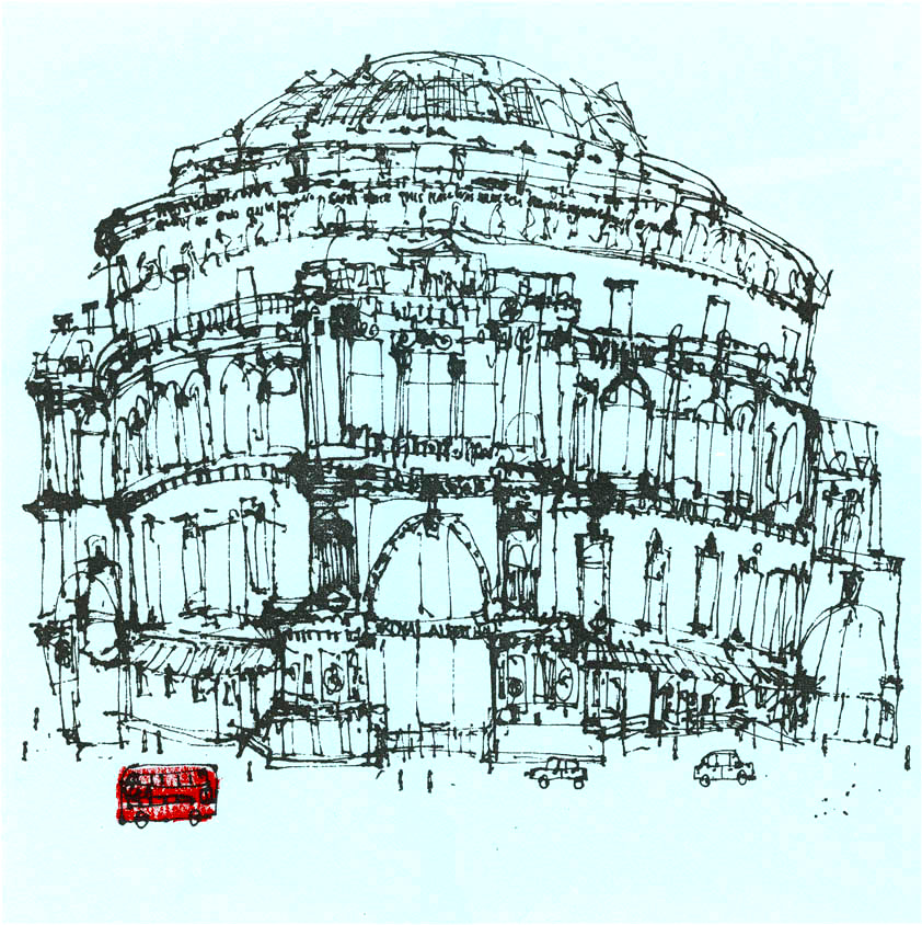 Clare Caulfield Royal Albert Hall & London Red Bus_clare_caulfield.jpg