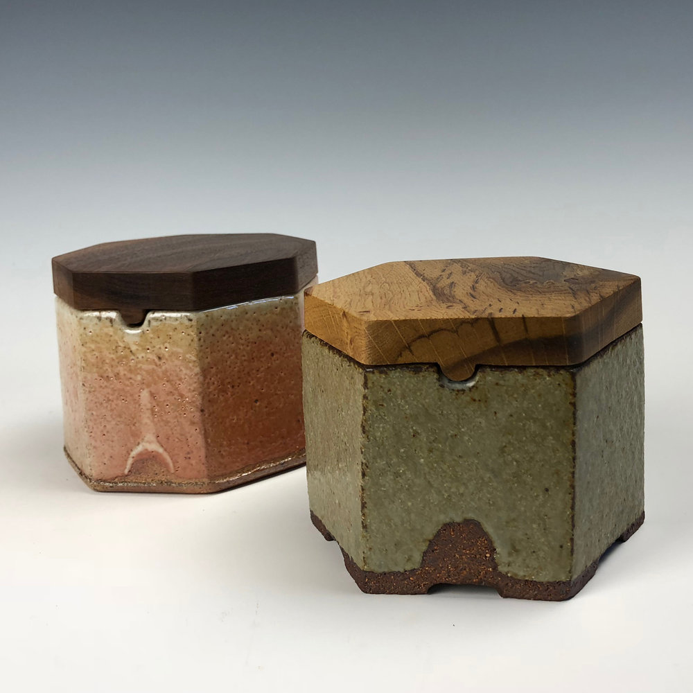 Hexagonal Lidded Containers