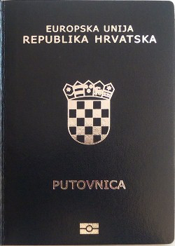 Latest version of Croatian passport