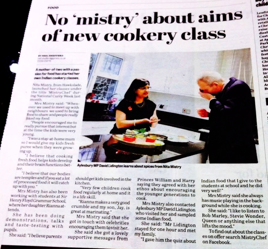 Bucks Herald - http://www.bucksherald.co.uk/news/no-mistry-behind-mum-s-indian-cooking-classes-1-7065343