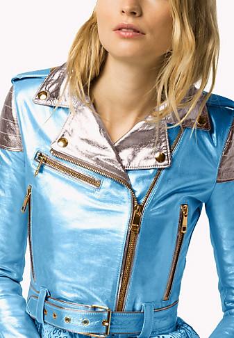 Metallic leather jacket €890