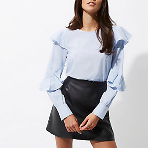 Blue long sleeve frill top €37 (i have this in pink)