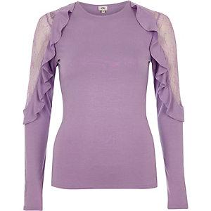Light purple frill lace sleeve top €30